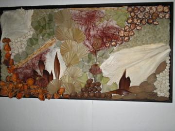 Susinova dekorace ve tvaru obrazu
